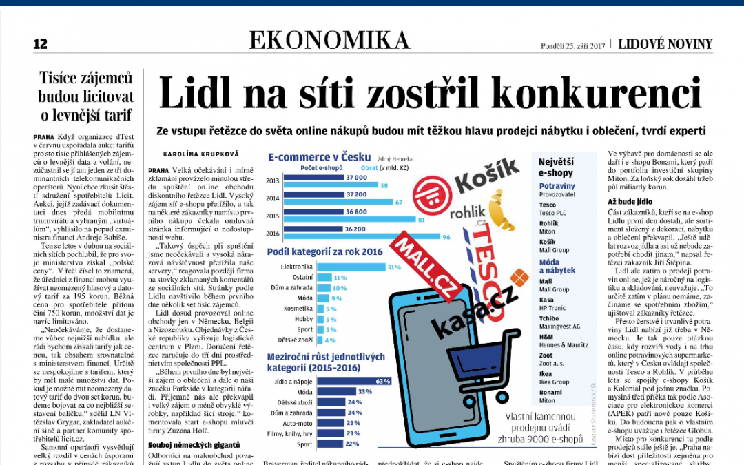 Z TISKU:  Tisíce zájemců budou licitovat o levnější tarif